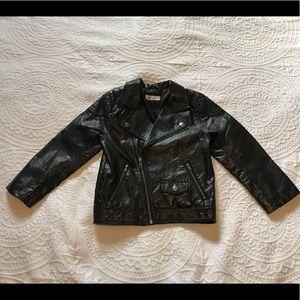 Moto jacket faux leather H&M boy size 5